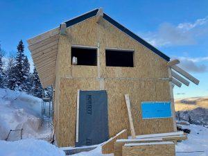 nízkoenergetická chata se sip panel