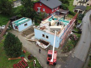 lahká nadstavba rodinného domu SE SIP panel