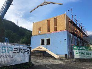 nadstavba poschodia SE SIP systémom odlahčené stavebné materiály