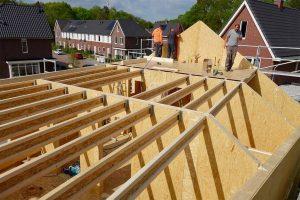výstavba strechy SE SIP panel rodinný dom