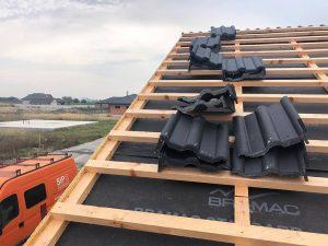 rodinný dom SE SIP výstavba strechy