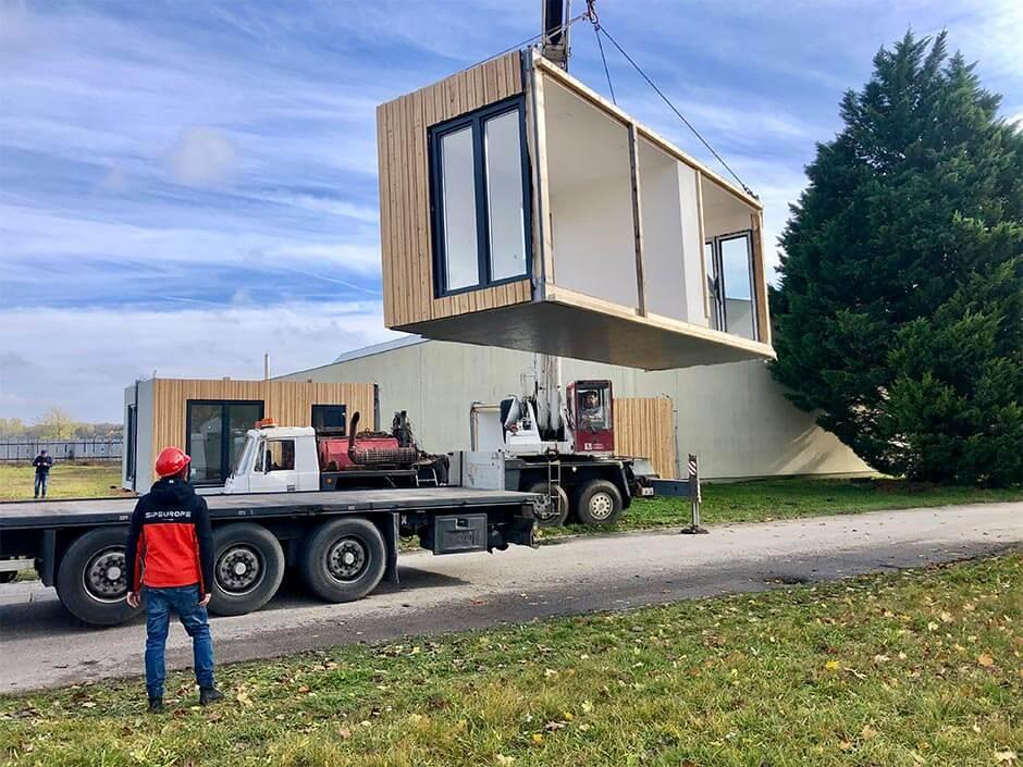 Modular buildings - MODULSIP - SE SIP panel modular house