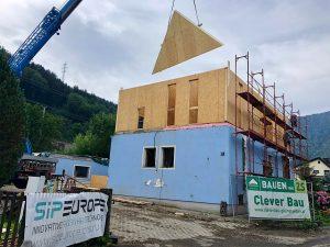 SIPEUROPE SIP panel - net zero energy house - superstructure