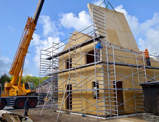 panelové stavby strecha systémom SIP