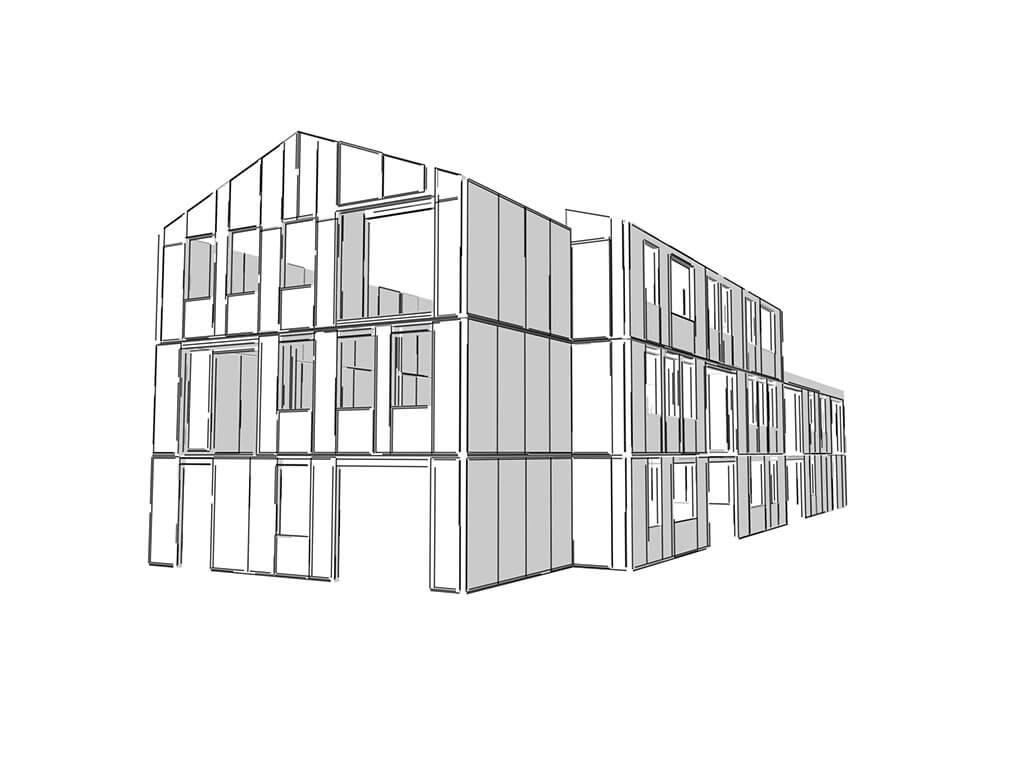 3D Wohnhaus SIP-System - SIP-Panel