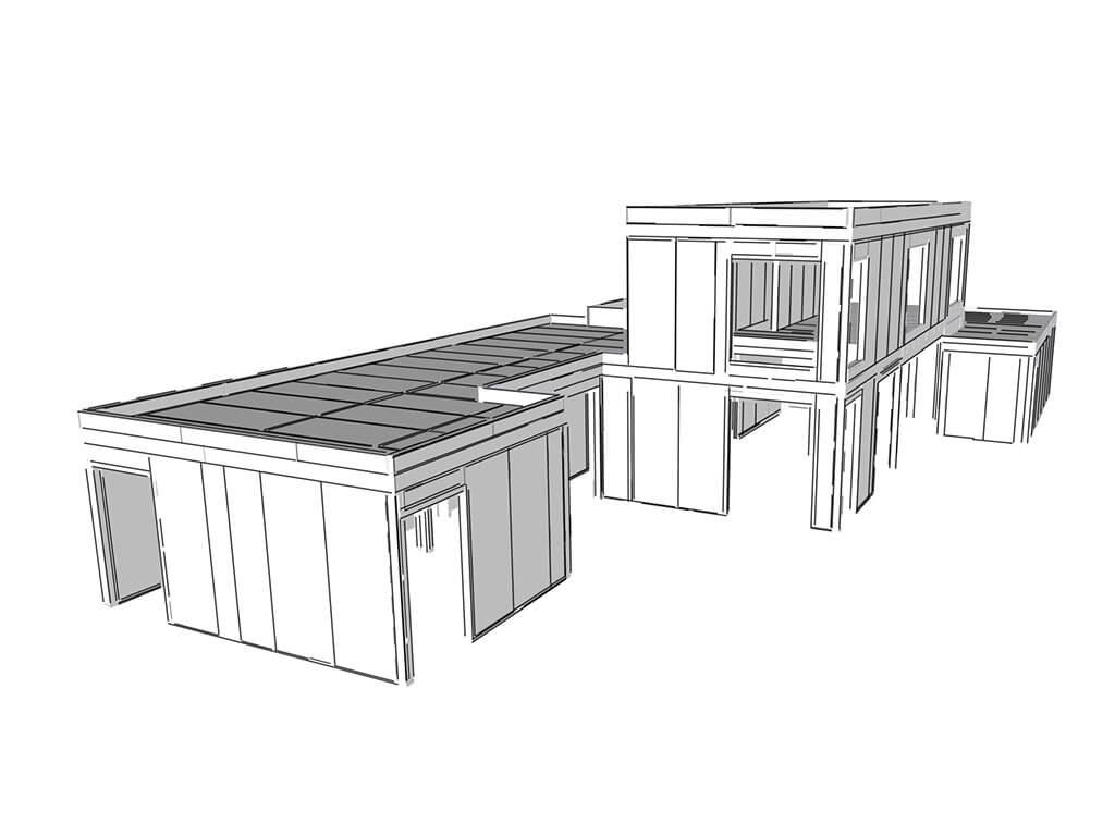 3D model budovy SIP SYTEM