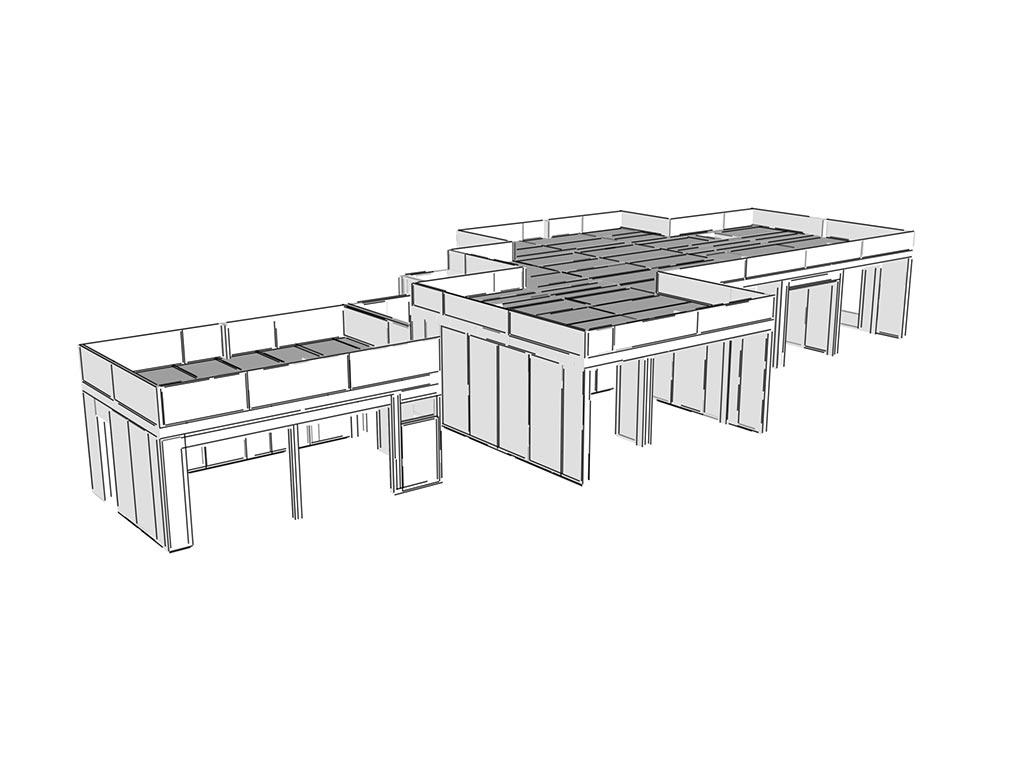 3D návrh budovy zo SIP PANELOV