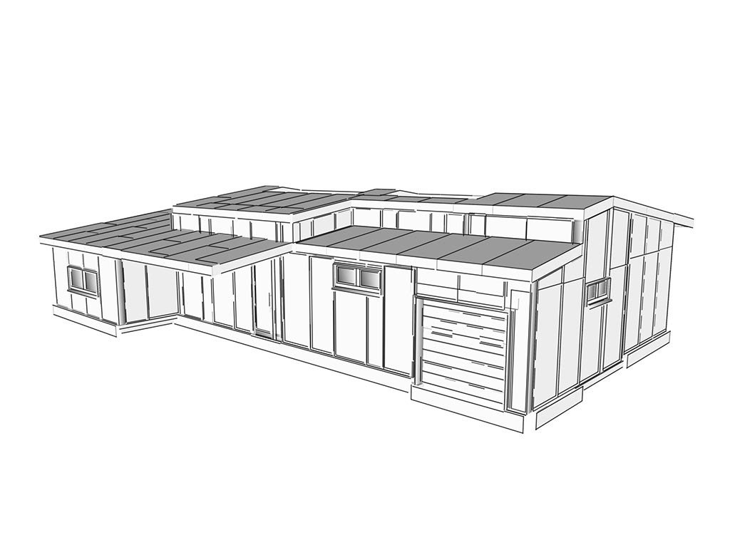 3D návrh rodinného domu - technológia sip
