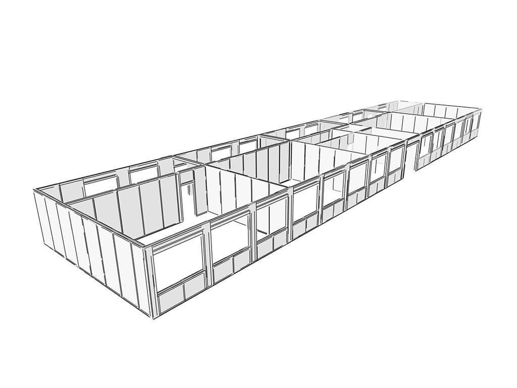 3D návrh komerčného objektu SE-SIP technológia