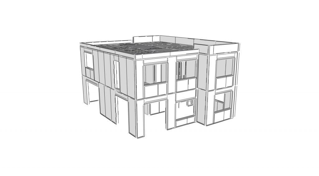 3D model SIP panel haus
