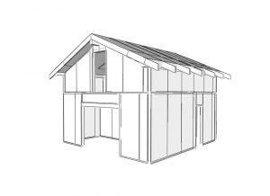 rýchla stavby chaty technológiou SIP - SE SIP Panel