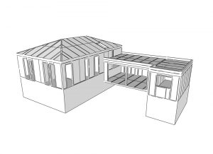 superstructure and extension of family house sip panel