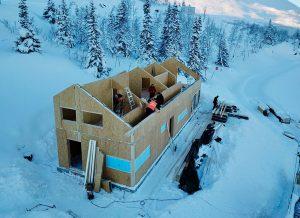 nízkoenergetická stavba - rekreačný objekt technológiou SIP