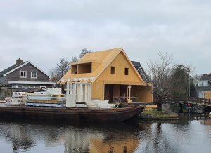 nízkoenergetická stavba chaty - SE-SIP panel