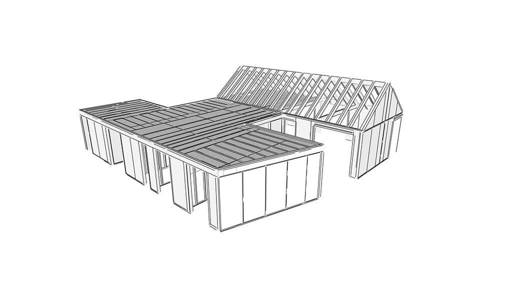 3d návrh domu pomocou se-sip
